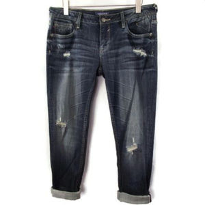 Vigoss Thompson Double Roll Cuff Skinny Jeans